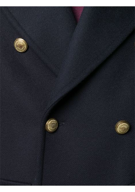 Blue wool-cashmere blend double breasted coat   ELEVENTY |  | B70CAPB06-TES0B12311