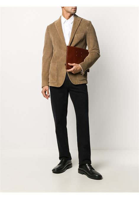 Camel brown cotton corduroy blazer featuring ribbed detailing ELEVENTY |  | B70GIAA05-TET0B01104