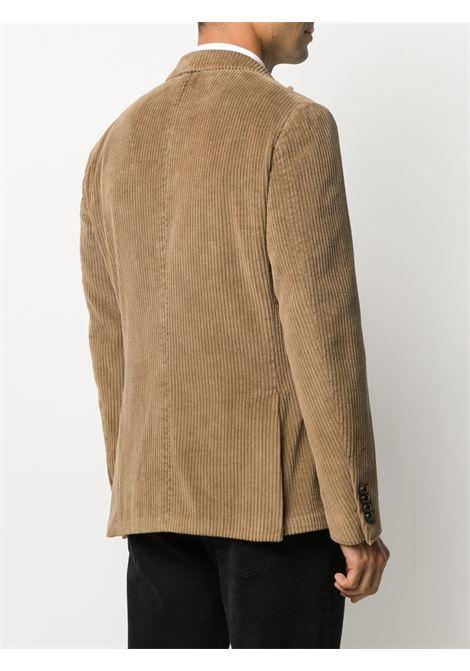Blazer in velluto a coste di cotone marrone cammello ELEVENTY | Giacche | B70GIAA05-TET0B01104