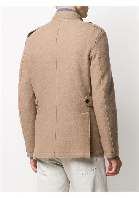 Giacca militare in lana vergine color cammello ELEVENTY | Giacche | B70GIAB02-CAS2400404