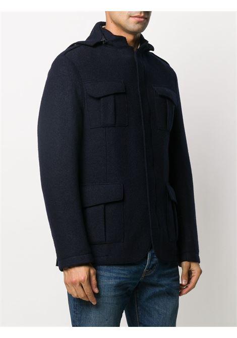 blue virgin wool military jacket  ELEVENTY |  | B70GIAB02-CAS2400419