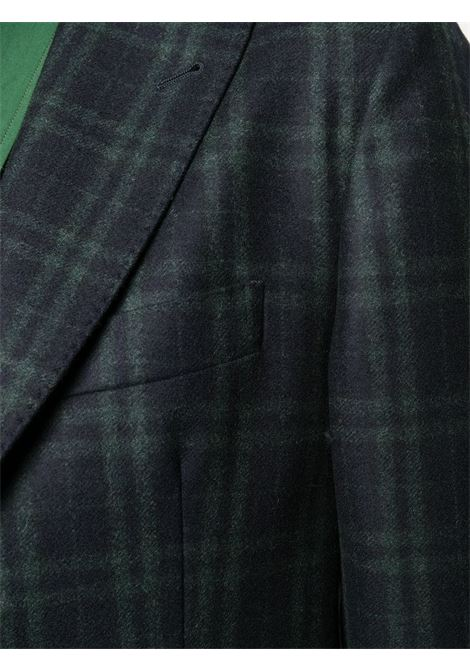 Blue and green wool tartan check blazer   ELEVENTY |  | B70GIAB04-TES0B03111