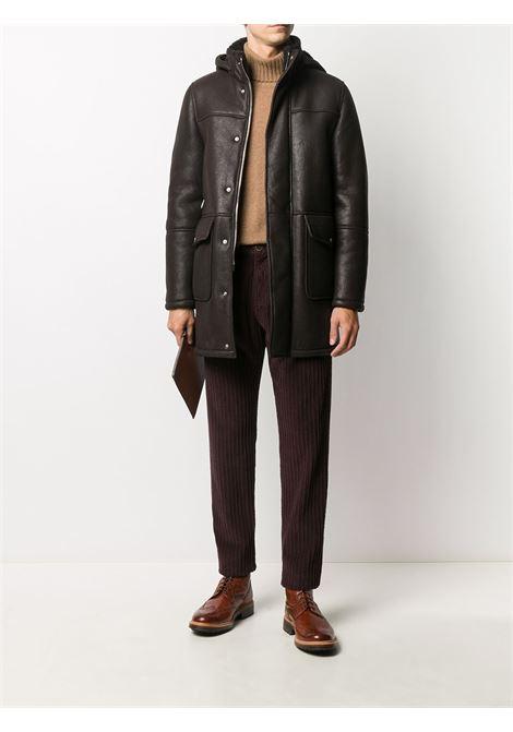 Bordeaux red stretch cotton corduroy drawstring trousers  ELEVENTY |  | B70PANB01-TET0B00710