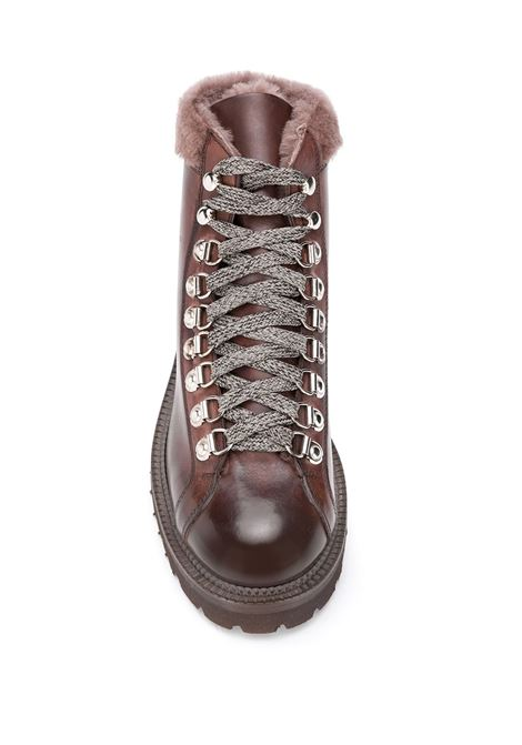 brown lace-up ankle boots with fur detail ELEVENTY |  | B72SCAB22-SCA0B03505