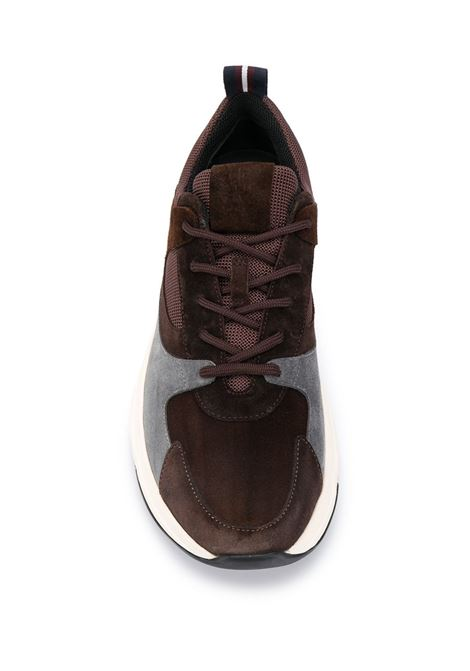 Brown leather low-top chunky trainers with grey details ELEVENTY |  | B72SCNB10-SCA0B02605