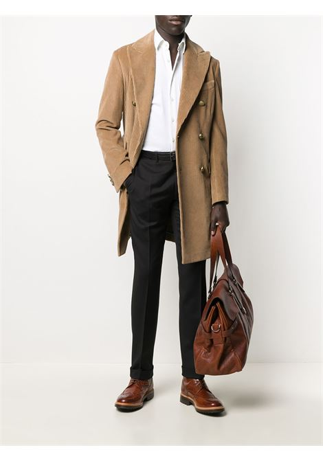 Brown cotton double-breasted corduroy coat   ELEVENTY |  | B75CAPB04-CAS2601304N