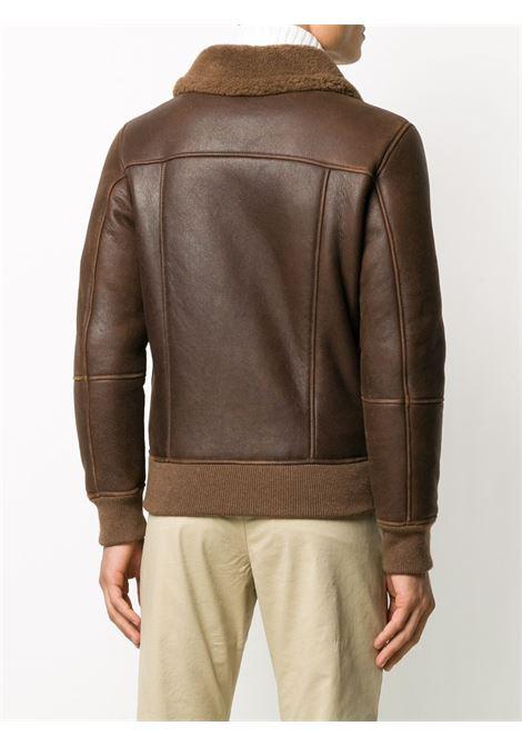 brown leather aviator jacket with shearling lining ELEVENTY |  | B75GBTB36-SHY0B00204