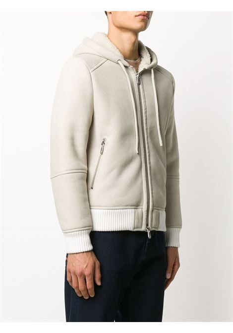 soft nabuck leather white and beige hoodie jacket ELEVENTY |  | B75GBTB37-SHY0B00400