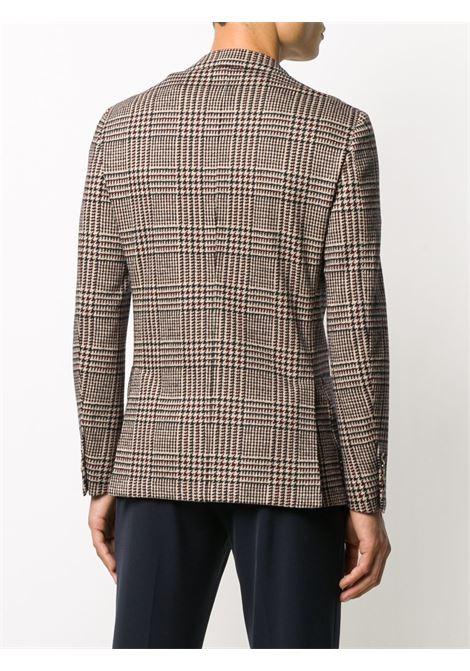 blazer slimfit a quadri marrone in cotone ELEVENTY | Giacche | B75GIAB04-TES0B09510
