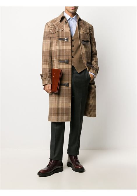 Brown cotton-cashmere blend v-neck waistcoat featuring V-neck ELEVENTY      B75GILA01-JAC2800204