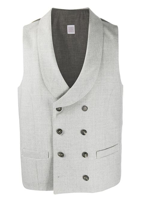 Light grey wool double-breasted waistcoat  ELEVENTY |  | B75GILA03-TES0B02113