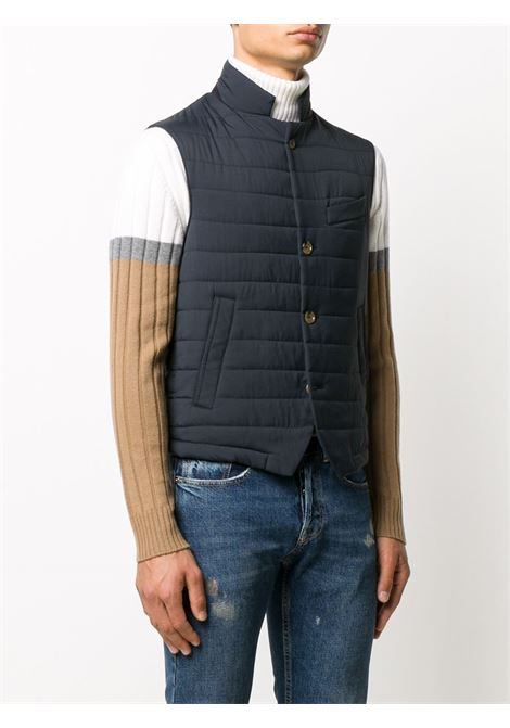 navy quilted gilet ELEVENTY |  | B75GILB01-NYL0A01511