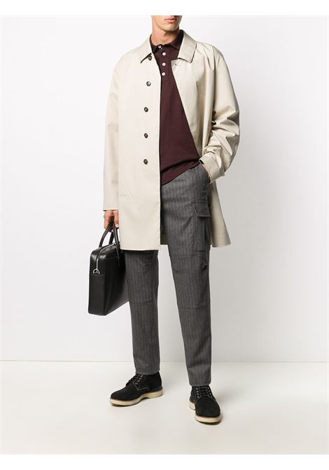 Grey wool-cashmere blend vertical stripe knitted trousers ELEVENTY |  | B75PANA15-TES0B03714