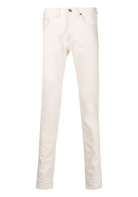 White 100% cotton straight-leg trousers  ELEVENTY |  | B75PANB11-TET0B02201