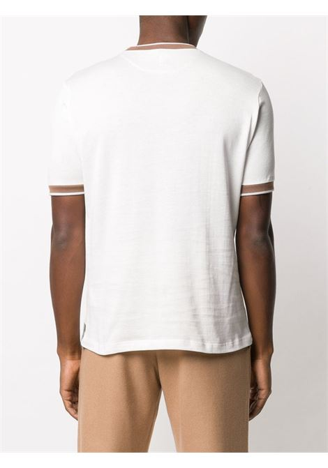 white cotton t.shirt with contrasting camel details ELEVENTY |  | B75TSHB02-TSH2600101