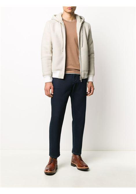t.shirt in cotone marrone con logo Eleventy grigio ELEVENTY | Maglieria Moda | B75TSHB07-TSH2600104