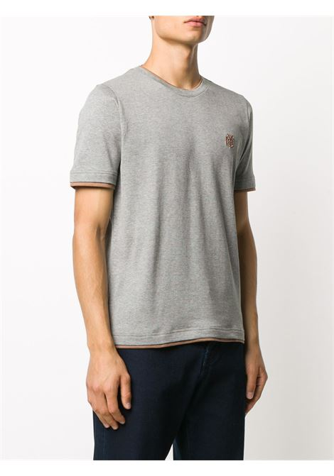 grey cotton t.shirt with camel details ELEVENTY |  | B75TSHB07-TSH2600114