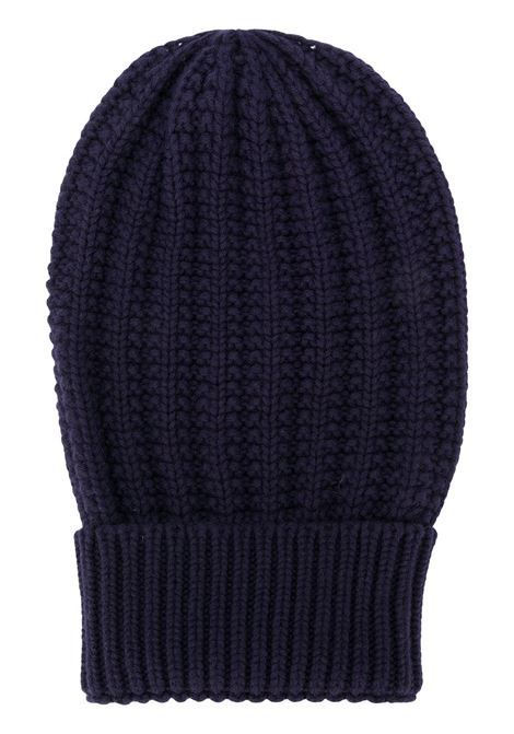 navy wool cable-knit beanie hat ELEVENTY |  | B76CLPB01-MAG0B00211