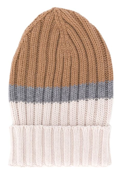 multicolored chuncky ribbed knit wool beanie hat ELEVENTY |  | B76CLPB02-MAG0B00504-14
