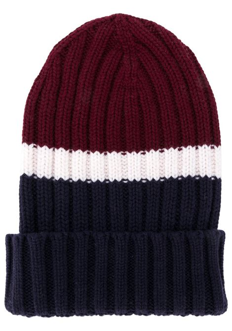 wool colour block long beanie hat ELEVENTY |  | B76CLPB02-MAG0B00510-01