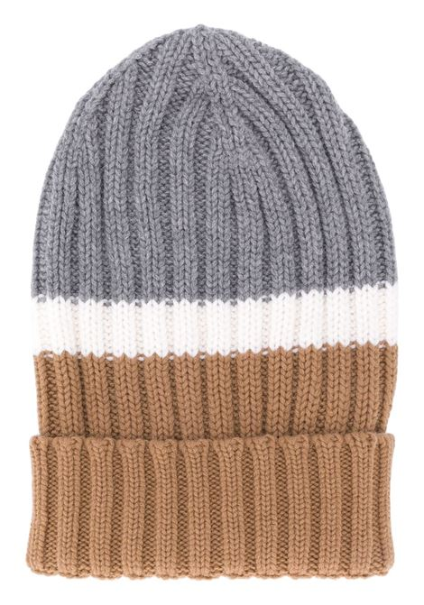 multicolored long colour block wool beanie hat  ELEVENTY |  | B76CLPB02-MAG0B00514-01