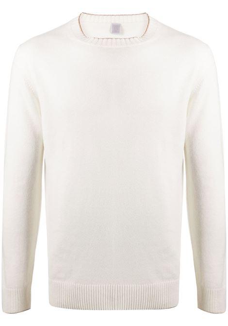 Maglia in cashmere panna con bordo in maglia a costine ELEVENTY | Maglieria | B76MAGA30-MAG2400601