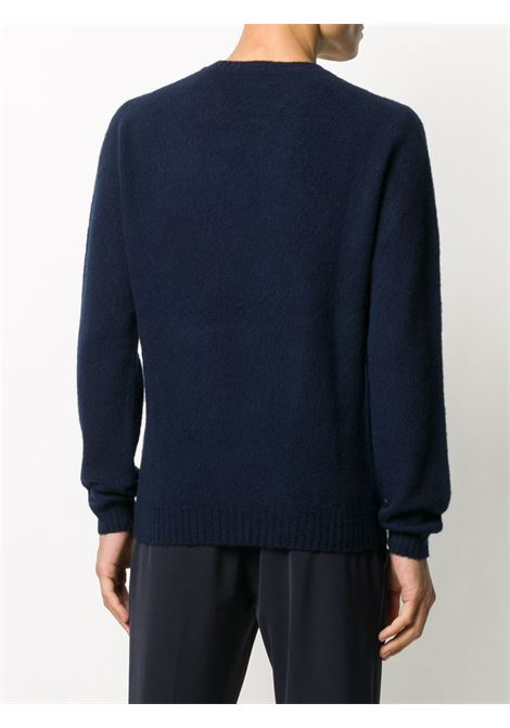 Navy blue 100% wool long-sleeve jumper ELEVENTY |  | B76MAGB47-MAG0B06211S