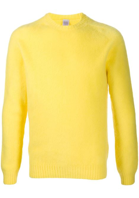 Lemon yellow wool textured crew-neck sweater  ELEVENTY |  | B76MAGB47-MAG0B06228