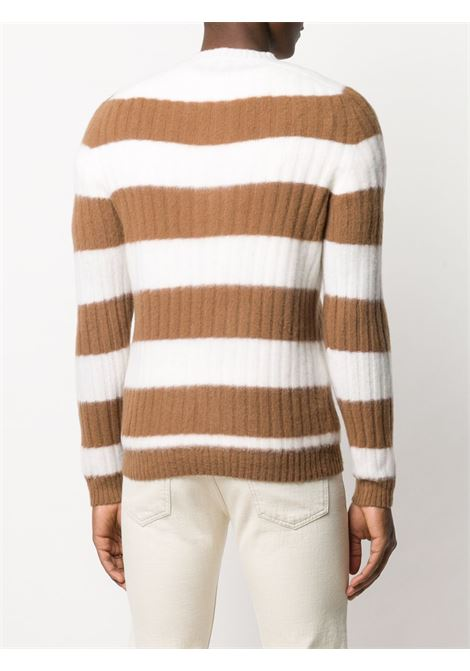 Cream and brown 100% wool striped knit jumper  ELEVENTY |  | B76MAGB48-MAG0B06401-04