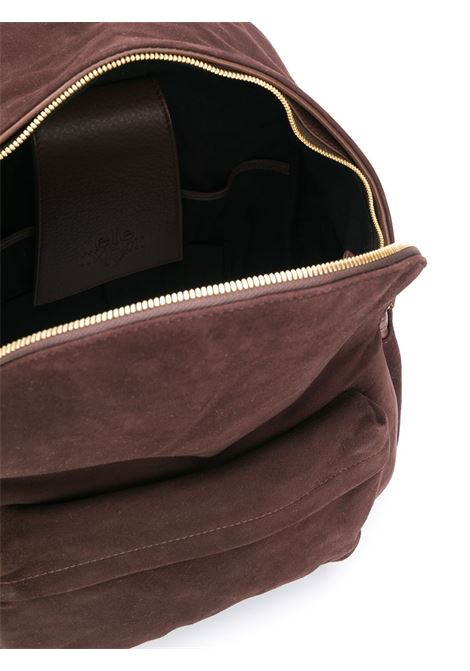 brown suede and calf leather zipped backpack ELEVENTY |  | B77BORB03-PEL0B03805