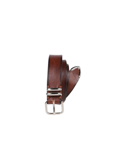 brown leather faded effect belt with silver tone fastening ELEVENTY |  | B77CINB05-PEL0B01903