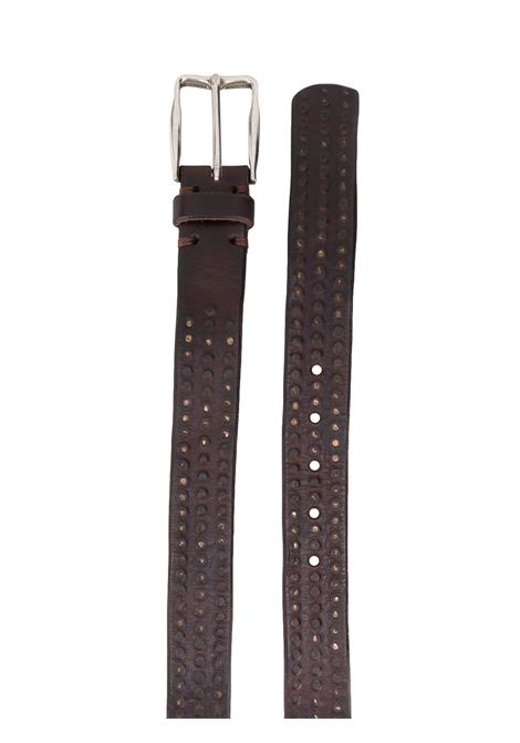 brown leather silver buckle belt ELEVENTY |  | B77CINB06-PEL0B01905