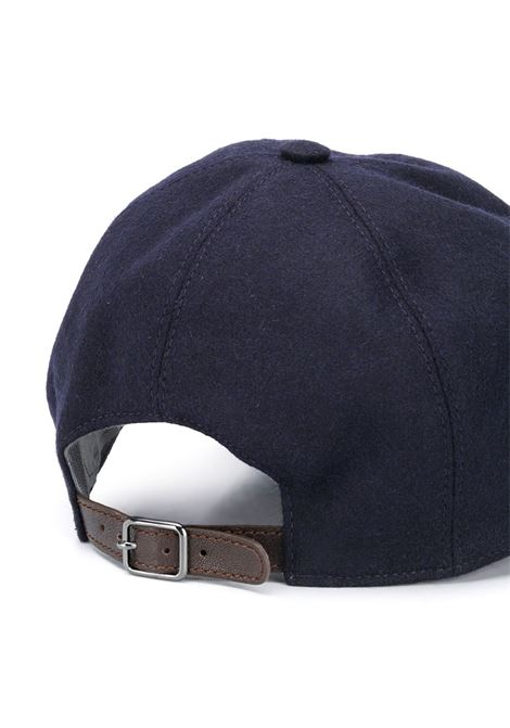 navy blue cotton baseball hat with front red logo ELEVENTY |  | B77CLPB02-TES0B13411