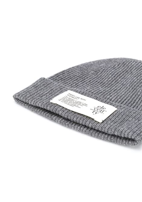 grey cachemere beanie hat with front Eleventy logo ELEVENTY |  | B77CPLB07-MAG0B05014