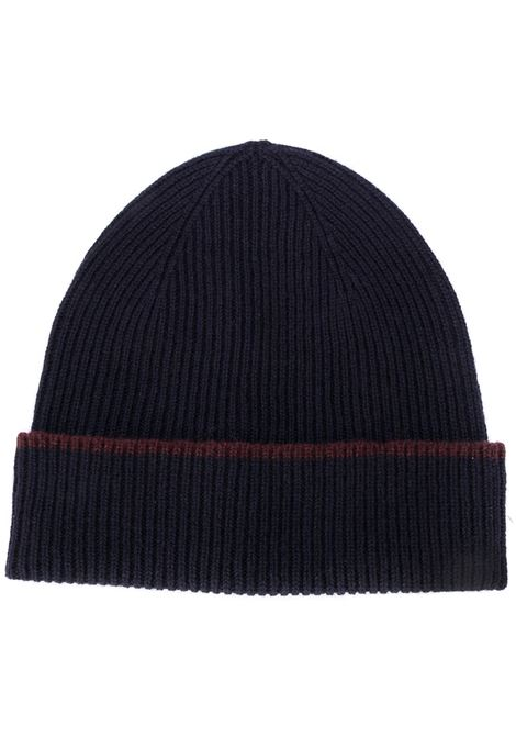 navy blue and bordeaux cachemere beanie ELEVENTY |  | B77CPLB07-MAG0B05311-10