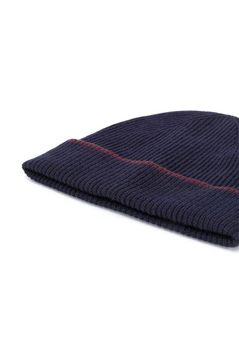 berretto blu navy e bordeaux in cachemere ELEVENTY | Cappelli | B77CPLB07-MAG0B05311-10