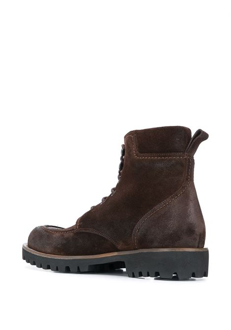 brown leather lace-up suede effect ankle boots ELEVENTY |  | B77SCAB01-SCA0B00105