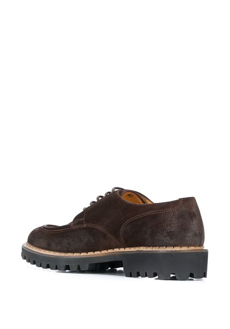 brown leather lace-up derby shoes ELEVENTY |  | B77SCAB02-SCA0B00105