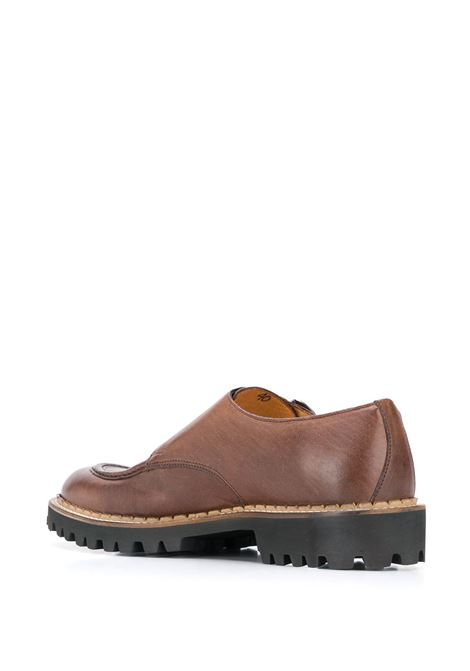 brown leather monk shoes with double-buckle ELEVENTY |  | B77SCAB03-SCA0B00205