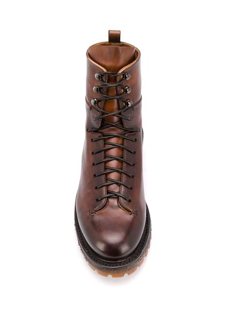 Brown leather lace-up ankle boots  ELEVENTY |  | B77SCAB04-SCA0B02804