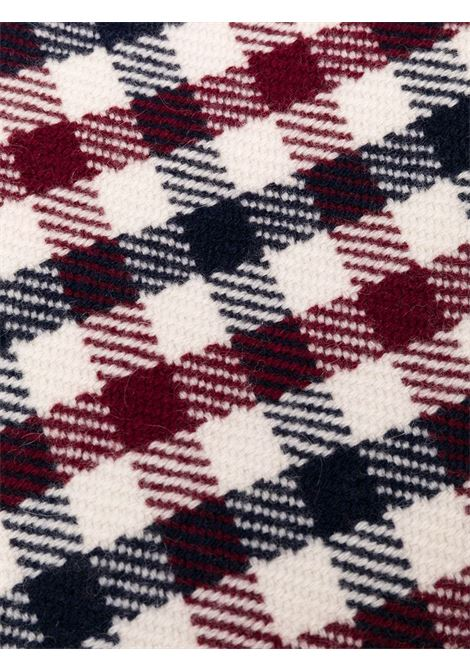 Sciarpa a quadretti in cashmere bianco navy e bordeaux ELEVENTY | Sciarpe e foulards | B77SCIB03-TCH0B01011