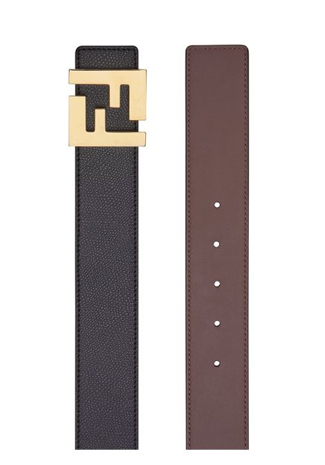 black and brown reversible 3,5 leather belt with FF Fendi gold-tone buckle  FENDI |  | 7C0424-A9ZHF19KK