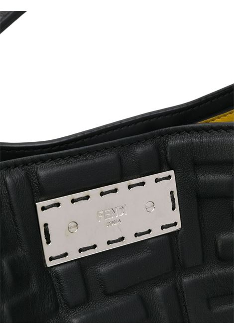 Black and yellow leather Peekaboo X-Lite Fit tote bag  FENDI |  | 7VA447-A72VF0GXN
