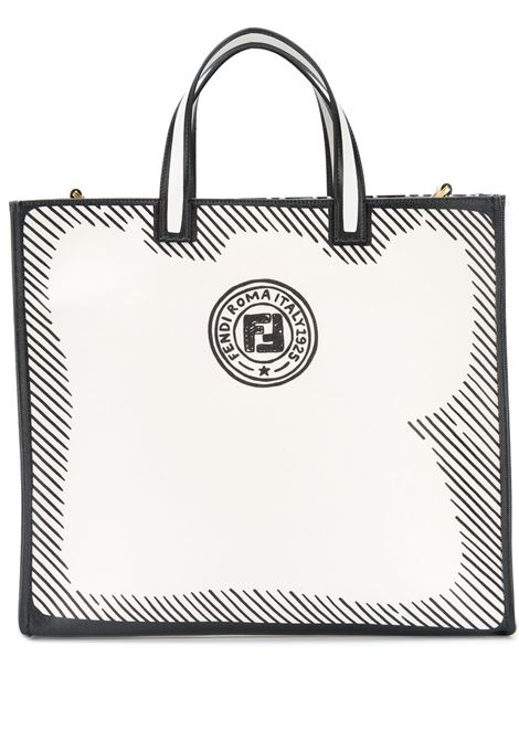 White and black calf leather and cotton Fendi x Joshua tote bag FENDI |  | 8BH357-ADBMF1C7A