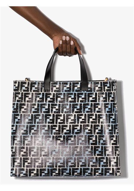 Black and white canvas Fendi x Josua Vides FF monogram-print tote bag  FENDI |  | 8BH357-ADBTF1C78