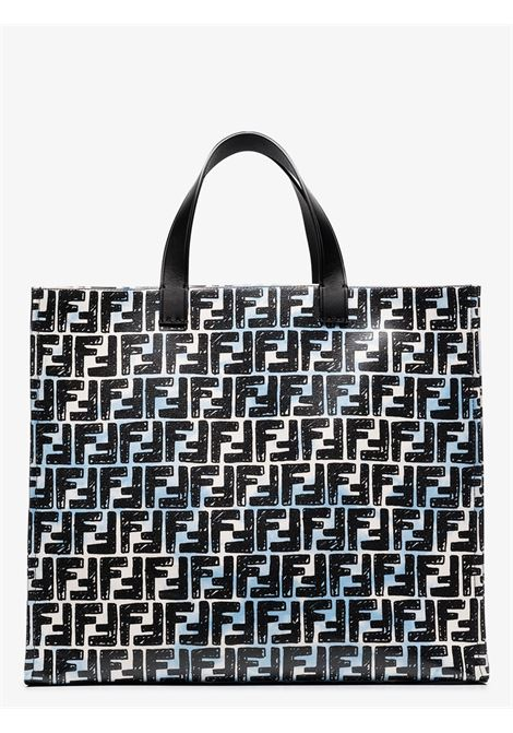 Black and white canvas Fendi x Josua Vides FF monogram-print tote bag  FENDI |  | 8BH357-ADBTF1C78