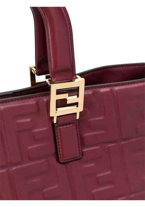 Dark red leather FF logo tote bag featuring two rounded top handles FENDI |  | 8BH368-A72VF14MK