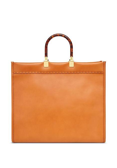 brown calfskin Sunshine shopper bag featuring tortoiseshell detailing FENDI      8BH372-ABVLF0PWZ