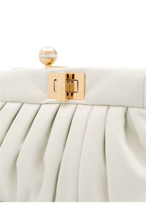 white leather Peekaboo crossbody bag featuring gathered detailing FENDI |  | 8BP118-ADBLF0L10