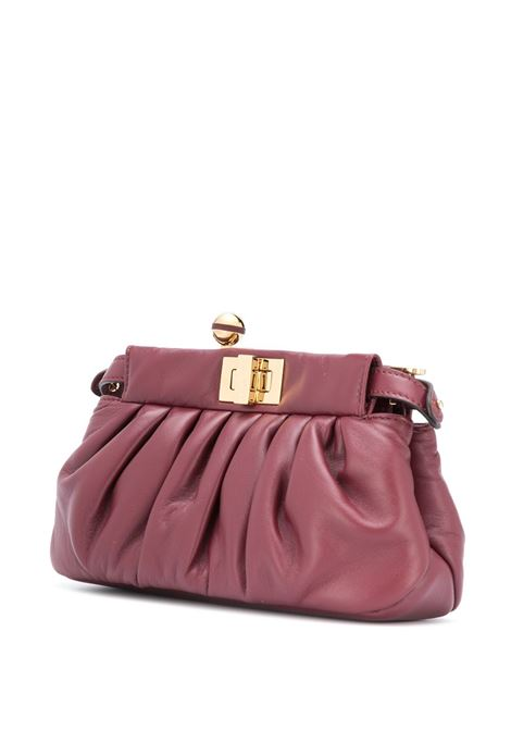 Purple leather Peekaboo crossbody bag featuring gathered detailing FENDI |  | 8BP118-ADBLF0YPU